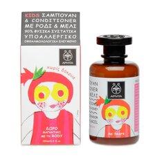 APIVITA KIDS ΠΑΙΔΙΚΟ ΣΑΜΠΟΥΑΝ & CONDITIONER με Ρόδι και Μέλι 250ml