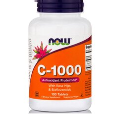 NOW FOODS C-1000 (with ROSE HIPS and Bioflavonoids) 100 Tabs