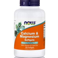 NOW FOODS Calcium and Magnesium w/ vitamin D and Zinc 10mg 120softgels