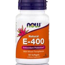 NOW FOODS Vitamin E-400 IU Natural 50 SoftGels