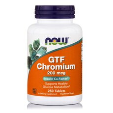 NOW FOODS GTF Chromium 200 mcg Yeast Free 250tabs