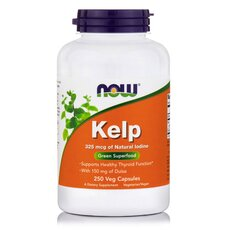 NOW FOODS Kelp Caps 325mcg 250 Vcaps