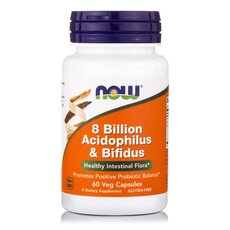 NOW FOODS Acidophilus and Bifidus 8 Billion 60Vcaps