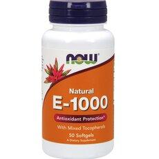 NOW FOODS Vitamin E-1000 IU Natural Mixed Tocopherols 50softgels