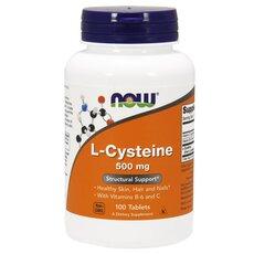 NOW FOODS L-Cysteine 500mg w/ vit B-6 και C 100tabs