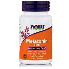 NOW FOODS Melatonin 3 mg 60caps