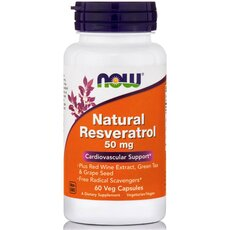 NOW FOODS Natural Resveratrol 50mg 60 Vcaps