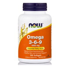 NOW FOODS Omega 3-6-9 1000 mg 100 Gels