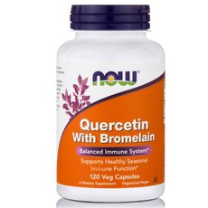 NOW FOODS Quercetin with Bromelain 120vcaps