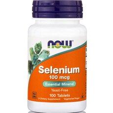 NOW FOODS Selenium 100 mcg Yeast Free Vegetarian 100tabs