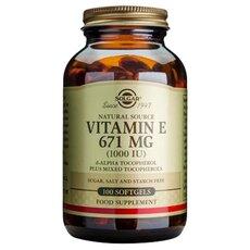 Solgar Vitamin E 1000 IU , Natural Softgels 100 Tabs, fig. 1