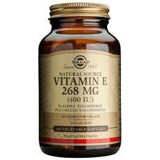 Solgar Vitamin E 400 IU , Natural Softgels 100 Tabs, fig. 1