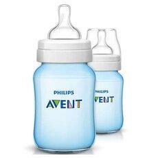 AVENT Πλαστικά Μπιμπερό Classic+ Μπλε από τον 1ο μήνα 2τμχ 260ml SCF565/27