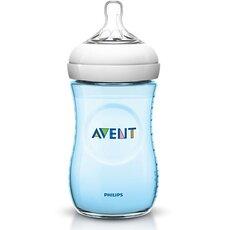 AVENT Πλαστικό Μπιμπερό Μπλε με Θηλή αργής ροής 1+ 260ml SCF695/17