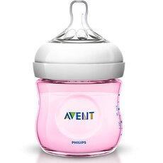 AVENT Πλαστικό Μπιμπερό Ροζ με Θηλή ροής για Νεογνά 0+ μηνών 125ml SCF691/17