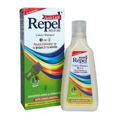 UNI-PHARMA REPEL Anti-Lice Restore Αντιφθειρική Αγωγή Σαμπουάν σε μορφή Λοσιόν και Χτενάκι 200gr