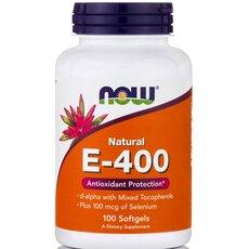 NOW FOODS Vitamin E-400 IU Natural Selenium 100mcg 100 SoftGels