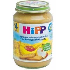 HiPP Κρέμα Φρούτων με Μπισκότα,Φρουτόκρεμα με Μήλο Μπανάνα και Μπισκότα μετά τον 4ο μήνα 190γρ