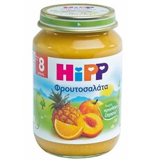 HiPP Φρουτοσαλάτα με Μήλο, Ροδάκινο, Ανανά και Πορτοκάλι μετά τον 8ο μήνα 190γρ