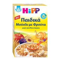 HiPP Παιδικά Μούσλι με φρούτα βιολογικής καλλιέργειας από τον 12ο μήνα 200gr