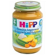 HiPP Παιδική Τροφή σε βαζάκι Ποικιλία Λαχανικών Βιολογικής Καλλιέργειας από τον 4ο μήνα 220gr