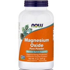 NOW FOODS Magnesium Oxide Pure Powder 8 Oz 226.7gr