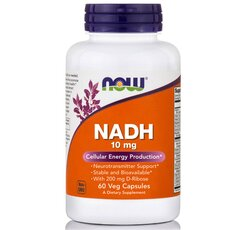 NOW FOODS NADH 10mg κατά της Κόπωσης 60Vcaps
