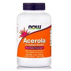 NOW FOODS Acerola Pure Powder Vegeterian 6 Oz /170gr