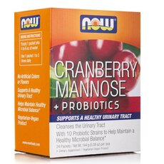 NOW FOODS Cranberry, Mannose + Probiotics 24packs (24X6gr)