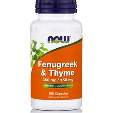 NOW FOODS Fenugreek & Thyme 350/150 mg 100caps