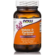 NOW FOODS Indole-3-Carbinol 200mg 60 Veg Capsules