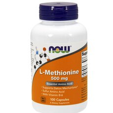NOW FOODS L-Methionine 500mg w/ B-6 10mg 100caps