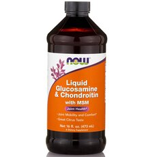 NOW FOODS Glucosamine and Chondroitin Liquid 16 Oz 455ml