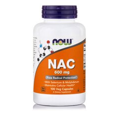 NOW FOODS NAC 600mg N-Acetyl Cysteine w/ Selenium and Molybdenium 100Vcaps