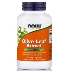 NOW FOODS Olive Leaf Extract Extra Strength w/ Echinacea 100mg 50Vcaps