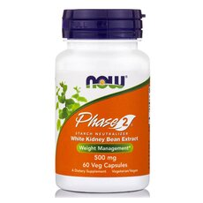 NOW FOODS PHASE 2 Starch Neutralizer 500mg 60Vcaps