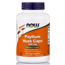 NOW FOODS Psyllium Husk 500mg 200caps