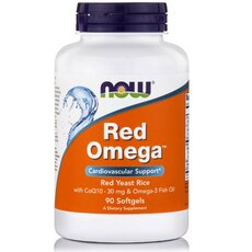 NOW FOODS Red Omega Salmon Oil 1000mg w/CoQ10 60mg 90softgels