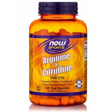 NOW FOODS Sports Arginine & Citruline 500/250mg 120caps
