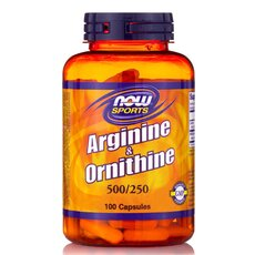 NOW FOODS Sports Arginine & Ornithine 500/250mg 100caps