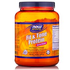 NOW FOODS Sports Fit & Tone Protein Mocha Flavor Πρωτεινη με Φεύση Μοκα 816gr