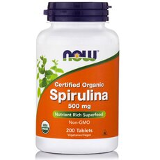 NOW FOODS Spirulina 500mg 200tabs