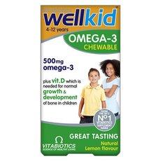 VITABIOTICS Wellkid Omega-3 Συμπλήρωμα Σχεδιασμένο Ειδικά για Παιδιά με Ωμέγα-3 60 Μασώμενες Κάψουλες