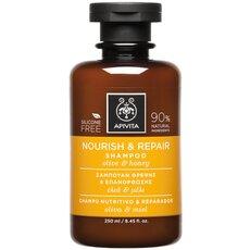 APIVITA Nourish & Repair Shampoo Σαμπουάν Θρέψης κι Επανόρθωσης με Ελιά & Μέλι 250ml