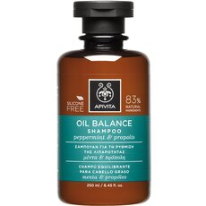 APIVITA Oil Balance Shampoo Σαμπουάν για τη Ρύθμιση της Λιπαρότητας με Μέντα & Πρόπολη 250ml