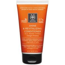 APIVITA Shine & Revitalizing Conditioner Κρέμα Λάμψης & Αναζωογόνησης για Όλους τους Τύπους Μαλλιών με Πορτοκάλι και Μέλι 150ml