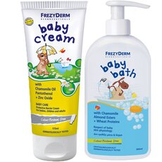 FREZYDERM Πακέτο Προσφοράς Baby Cream 175ml + Baby Bath 300ml