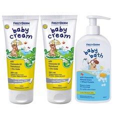 FREZYDERM Πακέτο Προσφοράς 2 (Δύο)  Baby Cream 175ml + 1 (Ένα) Baby Bath 300ml