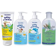 FREZYDERM Πακέτο Προσφοράς Baby Cream 175ml + Hydra Milk 200ml+ Baby Bath 300ml + Baby Shampoo 300ml