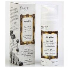 SOSTAR - ΤΟ ΓΑΛΑ Αφρώδες Τζελ Καθαρισμού Προσώπου με βιολογικό γάλα γαϊδουρας 150ml